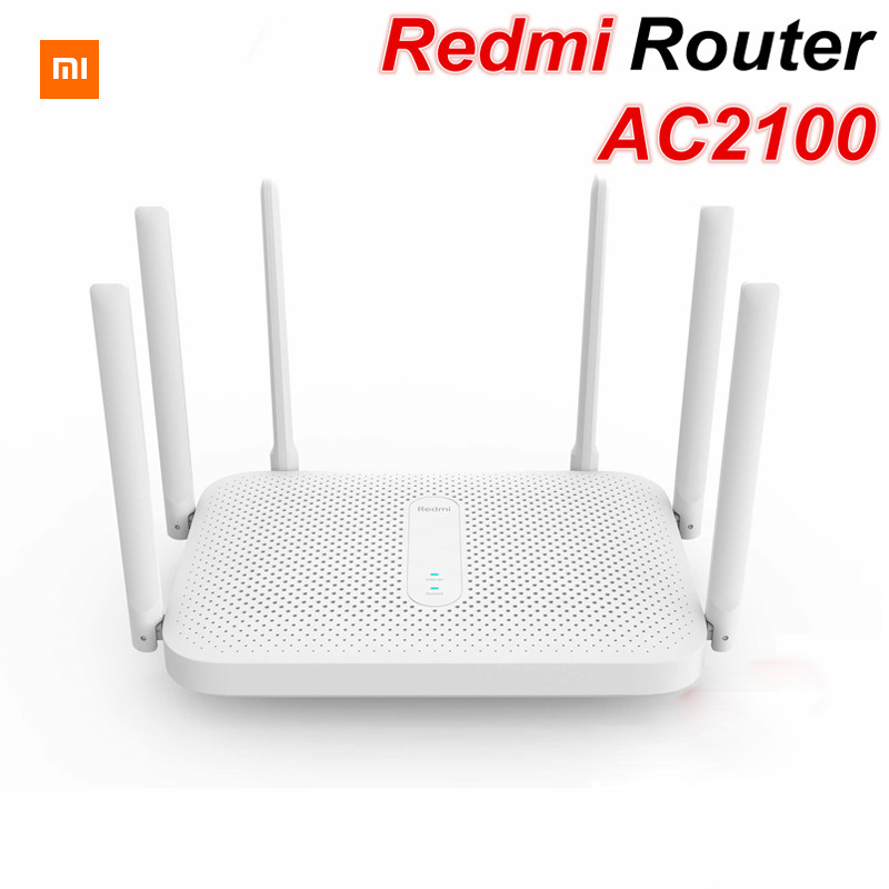 Original Xiaomi Redmi AC2100 Router Gigabit Dual-Band Wireless Router Wifi Repeater with 6 High Gain Antennas Wider Coverage(China)
