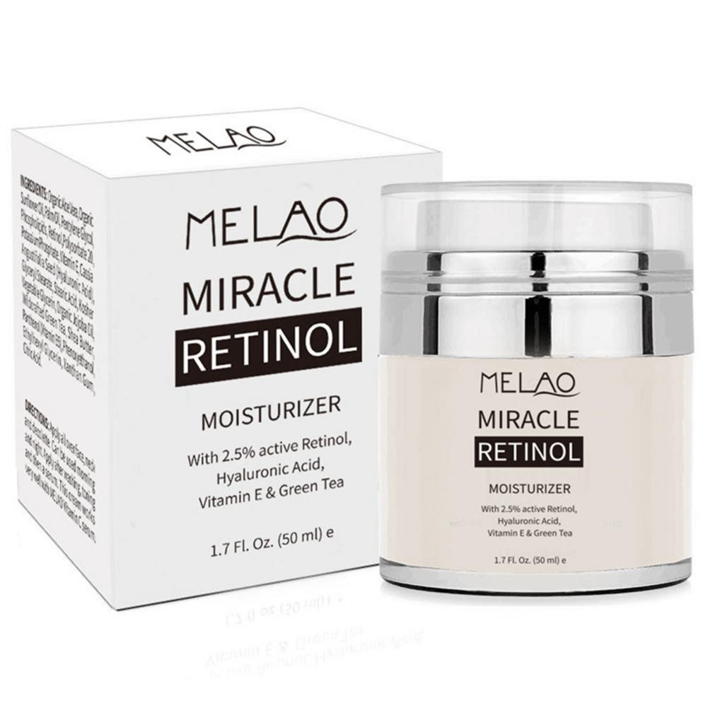 MELAO 2.5% Retinol Moisturizer Cream Hyaluronic Acid Anti Aging And Reduces Wrinkles And Fine Lines Day And Night Retinol Cream