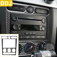 For Ford Mustang GT 2005 2009 S197 Car Central Control Climate Control Panel Cover AC Knob Frame Sticker Interior Accessories