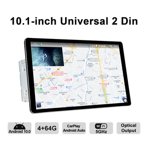 Image 3 - 신제품 자동차 라디오 2din 멀티미디어 안드로이드 10 헤드 유닛 4 기가 바이트 64 기가 바이트 HD 1280*800 Autoradio 오디오 시스템 Carplay 4G 블루투스 DVR