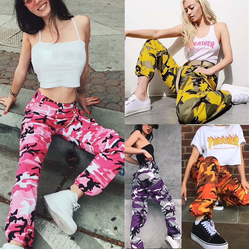 2020 Jeans For Women Jeans Sports Camo Cargo Pants Outdoor Casual Camouflage Trousers Jeans джинсы женские