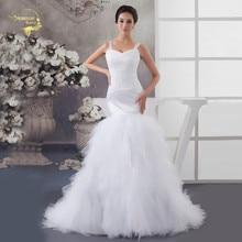 Luxury Tulle Womens Wedding Dresses Beading Layered Sheer Straps Wrap Waist Bridal Gowns Plus Size Vestido De Novia Princesa