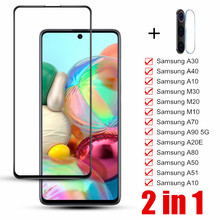 2 In 1 Gehard Glas Voor Samsung Galaxy A50 51 A10 A20 A30 A40 A20E Back Camare Lens Voor Galaxy a70 80 90 M10 20 30 Protector(China)