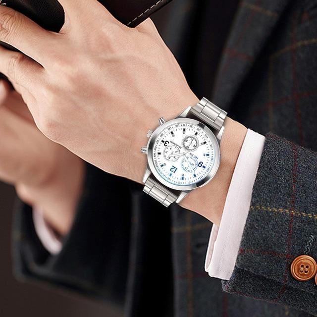 Brand Luxury Men Watches Automatic Black Watch Men Stainless Steel Waterproof Business Sport Mechanical Wristwatch reloj #2 2