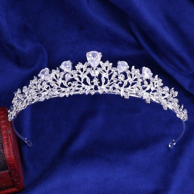Noble Crystal Leaf Bridal...
