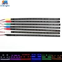 Tira de luces Led para coche, luz de escaneo de 12V, 30cm, 1,18 pulgadas, 3528, 32 Flash, decorativa, Flexible, resistente al agua, blanco, rojo, azul, 2 uds.