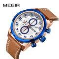 Megir часы мужские роскошные брендовые кварцевые часы модные часы с хронографом Reloj Hombre спортивные часы мужские часы Relogio Masculino