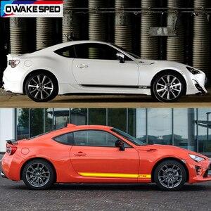 Image 4 - سيارة الباب الجانب تنورة ملصقا السيارات الجسم ديكور الفينيل الشارات الملحقات الخارجية ل Toyota 86 GT سباق الرياضة المشارب