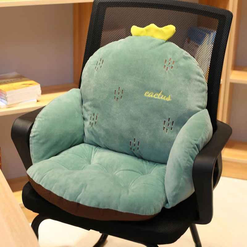 Lanke の漫画椅子クッション腰椎バックサポート、厚みシートパッド枕ビーチ内務省カーシートチェア臀部パッド