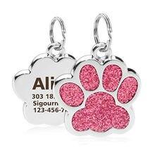 Etiquetas de gato personalizadas para perro, colgante con etiquetas de nombre para perro, gato, cachorro, mascota, accesorios para mascotas, colgante de brillo
