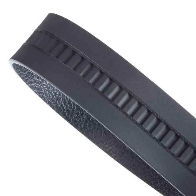 Alloy Buckle Artificial Leather Bark texture Business Casual Belt 2