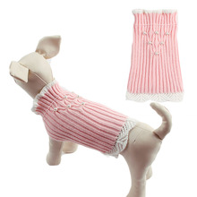 Pet-Sweater Knitted Puppy-Clothes Turtleneck Small Dog Chihuahua Fashion with Pearl