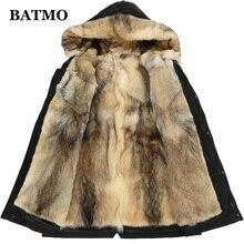 Batmo зимняя мужская куртка с капюшоном и подкладкой из меха волка, зимние теплые мужские парки больших размеров L-5XL