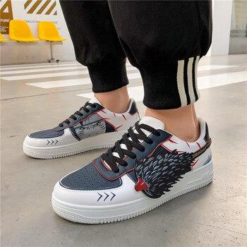 Zapatos bajos informales de Anime para hombre, zapatos de tablero de alta...