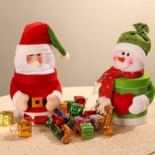 1PC Lovely Christmas Candy Jar Snowman Santa Claus Pattern Candy Jar For Children Gift Festive Party Supplies 1pc lovely christmas candy jar snowman santa claus pattern candy jar for children gift festive party supplies