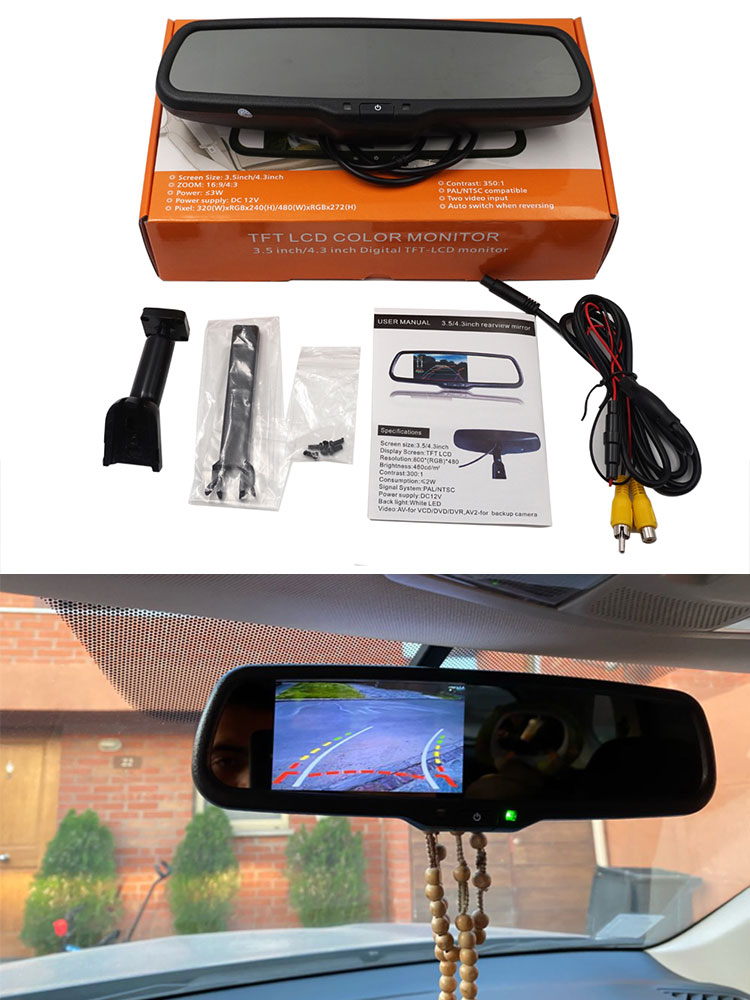 Camera-Monitor-Bracket Mirror-Screen Rear-View-Mirror-Mount TFT Car Auto-Brighenss-Change-Dimming