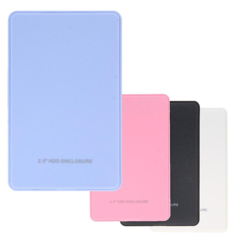 2.5in USB 2.0 SATA Hd Box HDD Hard Drive External Enclosure Case SSD Disk HDD Box For Windows Mac OS External Hard Disk