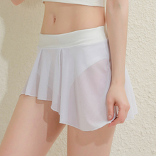 Transparent Skirt Pleated Ruffled High-Waisted Fashion Women Ladies Pole Dancing Booty