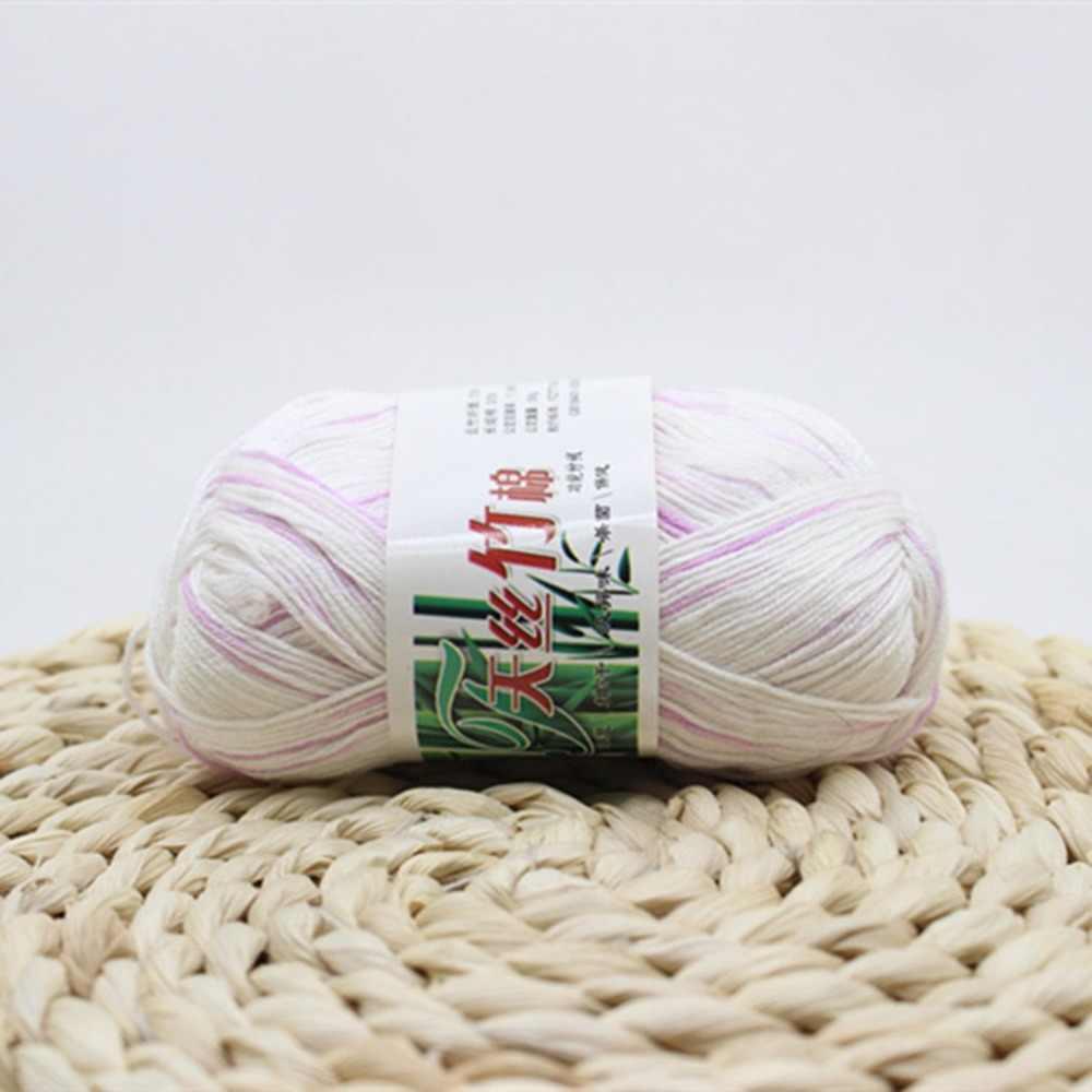 Mềm mại Bộ Ra Sợi Đa Sợi Ren Tay Sợi Đan Móc Bé Sợi Len Len Bằng Tre Cotton Lụa Dòng Nón Kết Nam Nữ