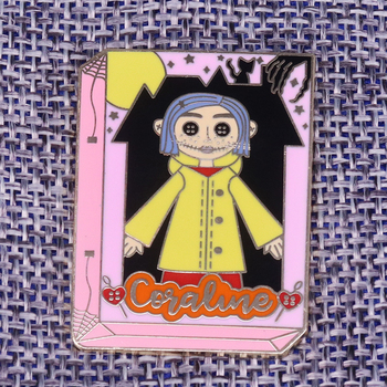 Coraline Doll Book Pins Cult Movie brooch Spooky Twitchy Witchy Girl Take you into Another World of Fantasy! image