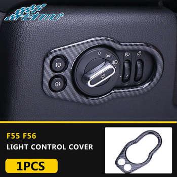 Para MINI F55 F56 F57 faro Control pegatina para el Panel interruptor cubierta embellecedor para MINI Cooper accesorios coche Styling Decoration Parts