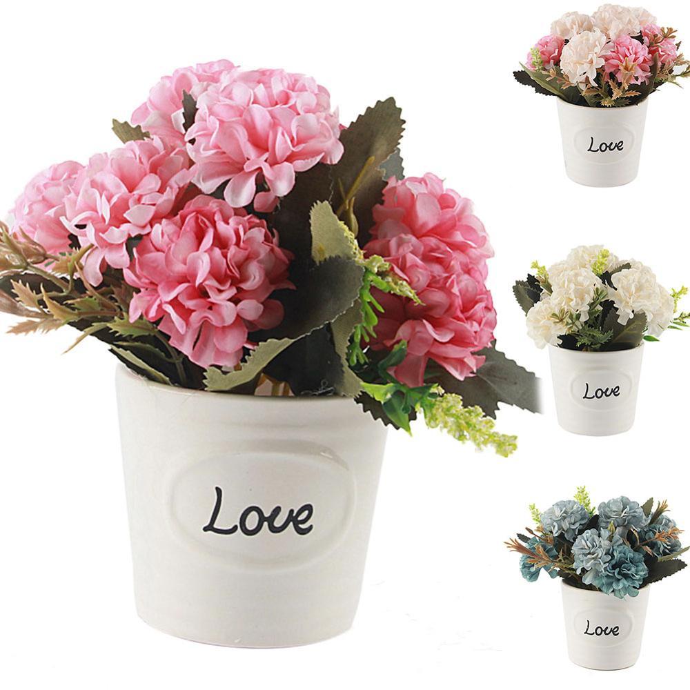 Ceramic Artificial Flower Creative Home Gardening Ceramic Flower Pot Origin Goods Hot Selling