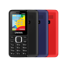 UNIWA E1801 Mini Mobile Phone Dual SIM 2G GSM SC6531E Bar Feature 800mAh 0.08MP