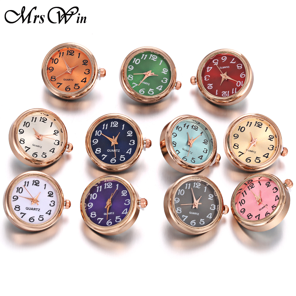 DIY 18mm Glass Watch Snap Buttons Interchangeable Jewelry Accessory Replaceable Rose Gold Snap Button Jewelry Bracelet Bangles