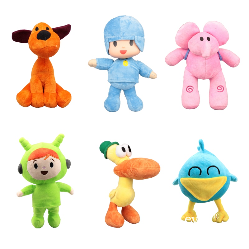 Pocoyo Stuffed Plush Toys #Pocoyo #Loula Dog #Nina Pato #Elly #Sleeping Bird Stuffed Dolls 14-30cm Children Baby Birthday Gift