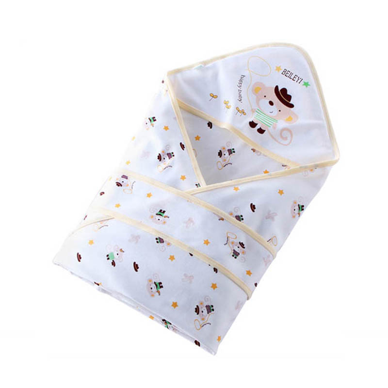 Summer Newborn Baby Sleeping Bag Soft Cotton Cocoon Envelope For Newborns Baby Blanket Swaddling Wrap Sleepsack 0-3 Months