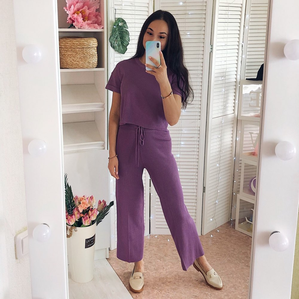 French Niche New Slim Small Jacket High Waist Wide Leg Casual Trousers Temperament Two-piece Suit