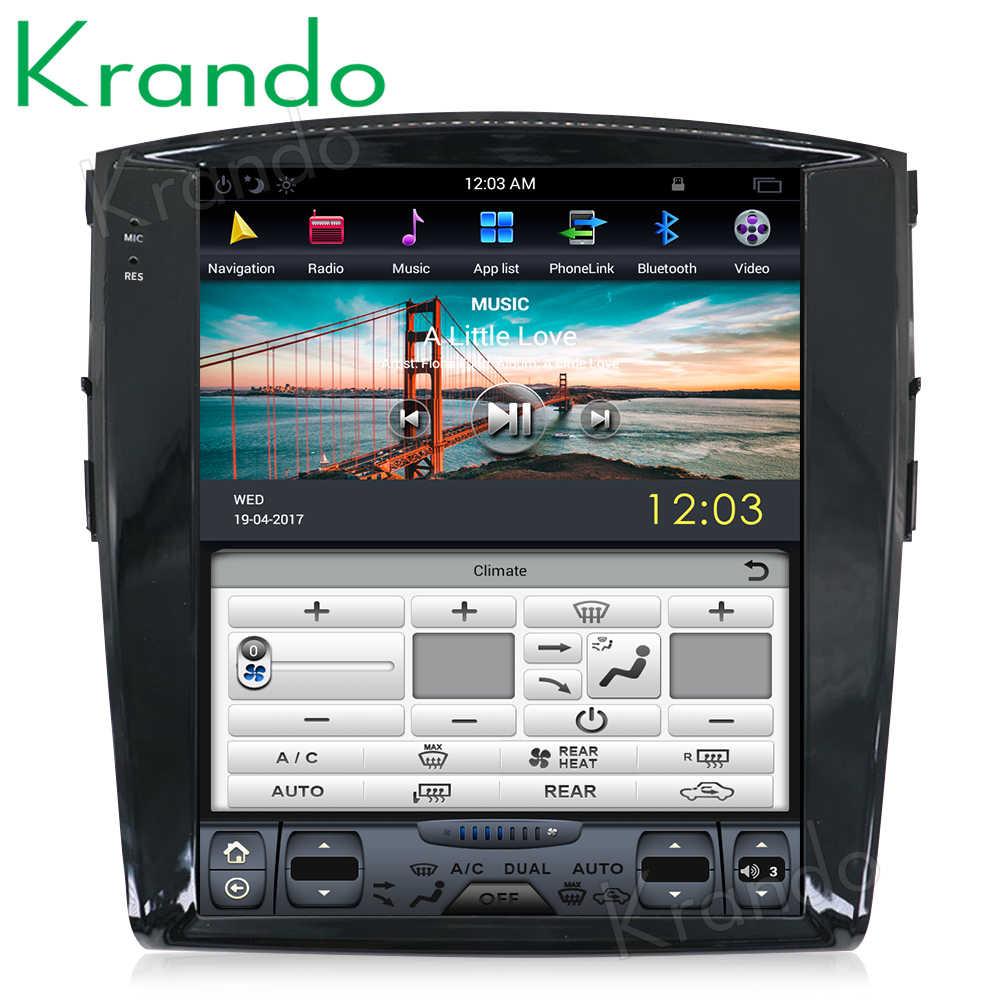 "Krando car radio for Mitisubishi Pajero V97 V93 2006-2015 android 8.1 12.1"" Tesla Vertical screen navigation multimedia system"