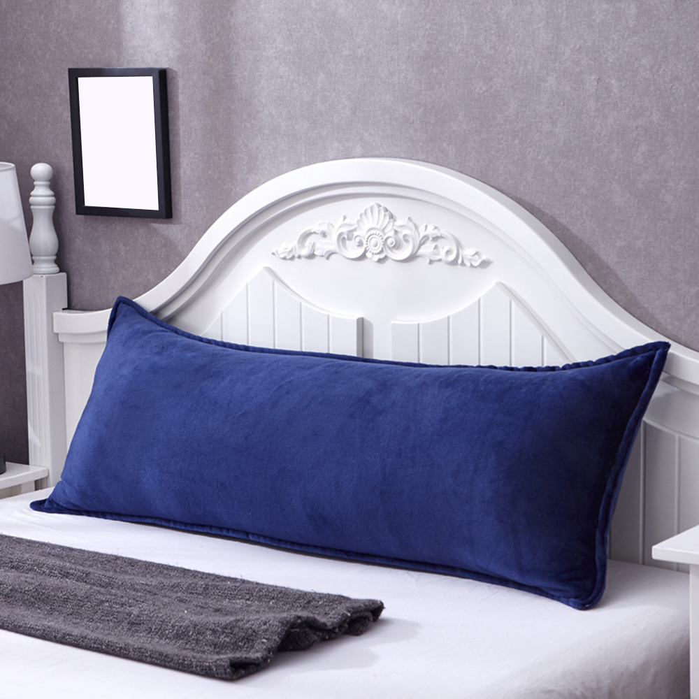 Flannel Double Pillow Case Winter Warm Comfortable Long Bed Home Decorative Pillow Cover Household Supplies For Christmas Gift