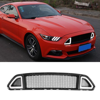 For Ford Mustang R Style Red Green White LED Front Bumper Middle Grill Grille 2015 2016 2017