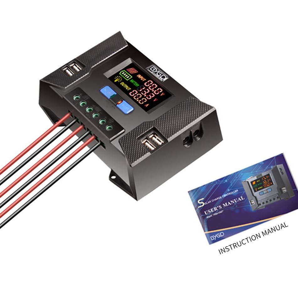 CP30A Цвет HD Дисплей Солнечный Зарядное устройство контроллера 10A 60A 12 V/24 V перенапряжения обратная защита от короткого замыкания