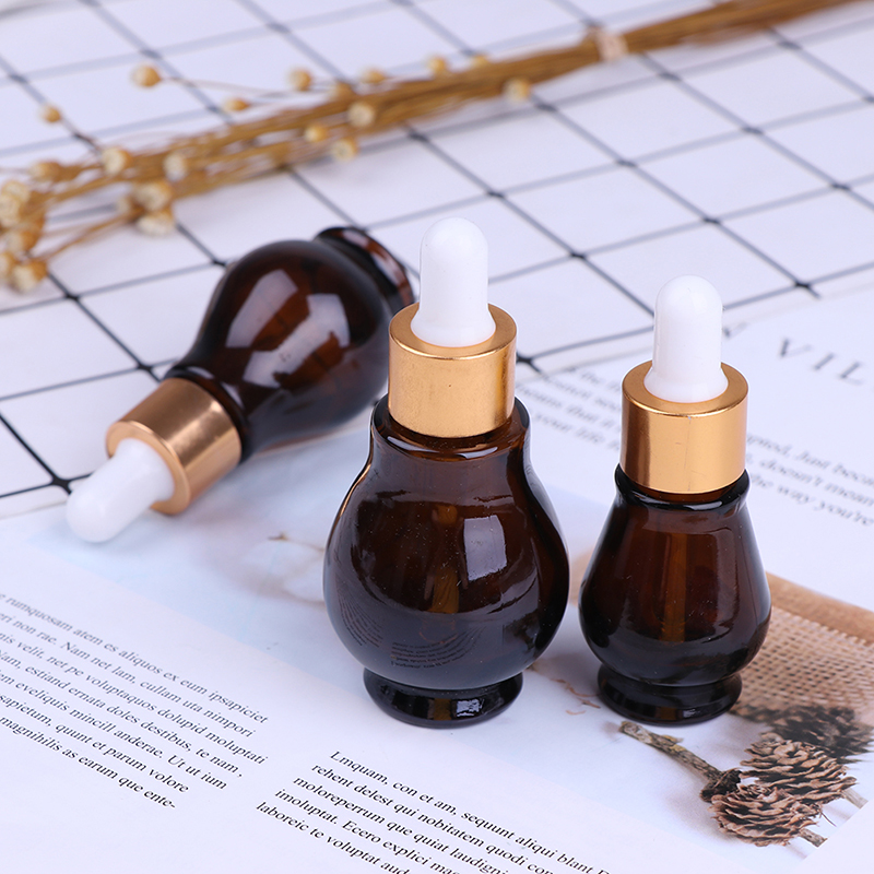 10/20/30/50ml Brown Amber Glass/Plastic Dropper Bottle Essential Oil Perfume Bottles Empty Container Travel Refillable Bottle