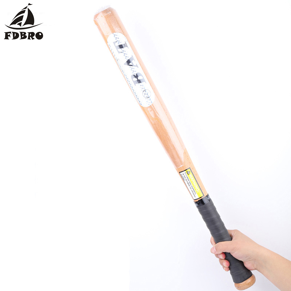 FDBRO Wood Baseball Bat Professional Hardwood Baseball Stick Outdoor Sports Fitness Equipment 53cm Baseball Accessories Softball