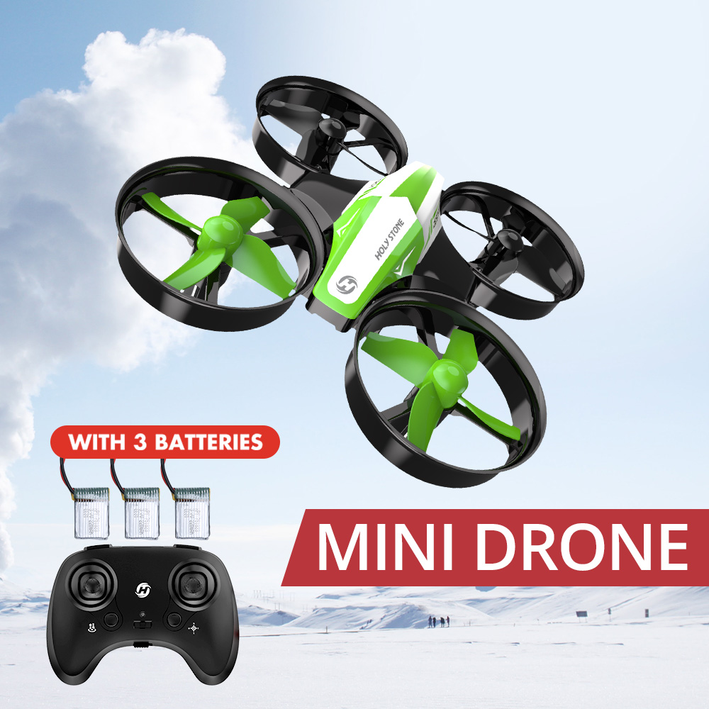 Holy Stone HS210 Mini Drone Kids Toy Infantil Drones Mini RC Quadrocopter Quadcopter Dron One Key Land Helicopter 50M Green Boy