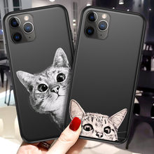 Funda de teléfono Lovebay para iPhone 11 6 6s 7 8 Plus X XR XS 11 Pro Max 5 5S dibujos animados gato astronauta animales TPU suave para iPhone X(China)