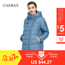 Thick Coat Parka Down-Jacket Women Hooded Warm GASMAN Long Puffer Plus-Size Winter 6XL