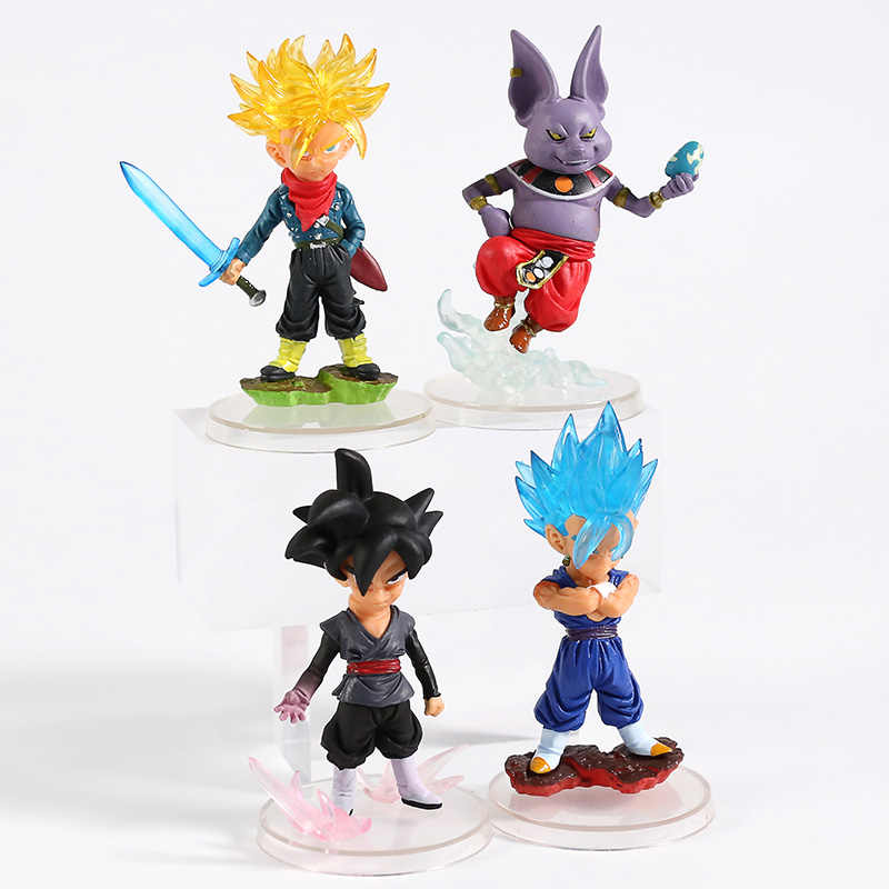 Dragon Ball Z Son Goku Vegetto Super UG Grau Máximo 01 02 Bardock Beerus Freeza Trunks Champa PVC Figuras Brinquedos 4 pçs/set