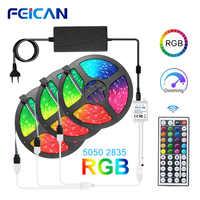 LED Strip RGB Lights 5050 2835 Waterproof LED Light Strip 5M 10M 15M 12V RGB Tape LED Lights Backlight Flexible Neon Ribbon