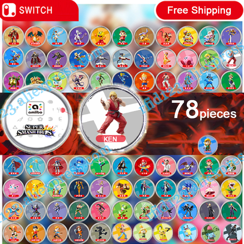 NFC Amiibo Coin Tag For Super Smash Bro. 81 Pieces