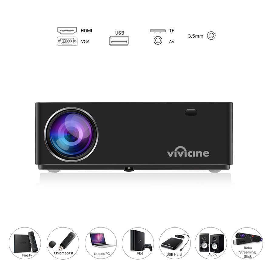 Vivicine 2020 M20 Terbaru 1080P Home Theater Proyektor, pilihan Android 9.0 1920X1080 Full HD LED Multimedia Proyektor Video Proyektor
