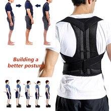 Postura corrector para homem e mulher volta postura cinta clavícula suporte parar slouching e curvar ajustável volta trainer
