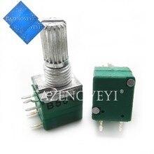 5 pçs/lote RV097NS 50 20 10 5 1K K K K K 100K 500K com um interruptor de áudio 5pin 15mm amplificador potenciômetro vedação do eixo Em Estoque