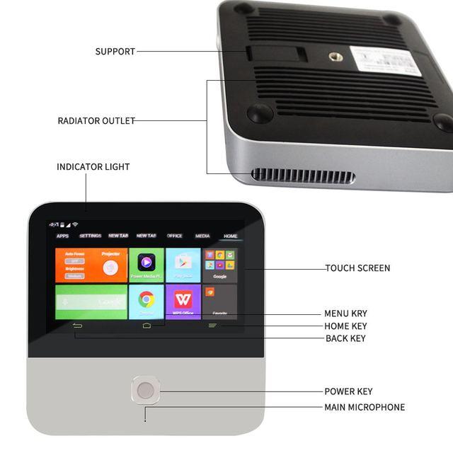 ZTE-Mini-projecteur intelligent Spro 2, Hotspot et Android
