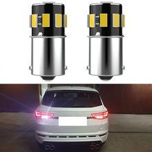 Para VW Passat B5 B6 B7 B8 B5.5 Golf 5 6 7 4 mk4 mk6 1156 BA15S S25 P21W LEVOU 7506 1141 1095 Carro LEVOU Luz de Backup Reversa Lâmpada LED