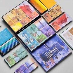 Marco Tribute MASTERS, 60 colores, conjunto de lápices profesionales de Color agua para artistas, Arte Fino, dibujo al agua, lápices de colores