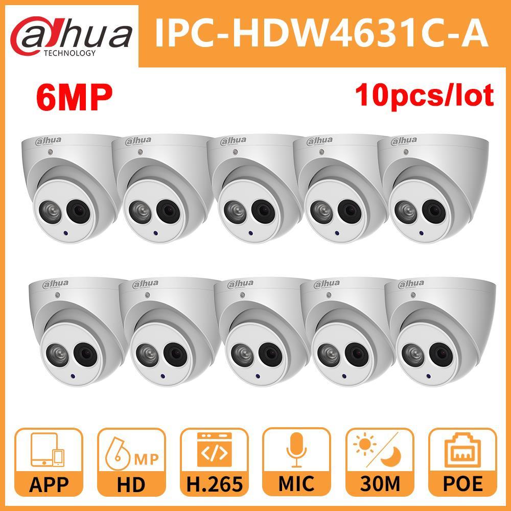 Dahua IP Camera dome camera home IPC DH IPC HDW4631C A 6MP CCTV IR30M Night Vision Built In Mic IP67 Onvif 4631C A SecuritySurveillance Cameras   -